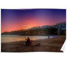 Fishermans Sunset Poster