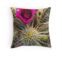 Spikes and Petals Throw Pillow