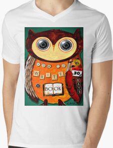 Editorial Owl Mens V-Neck T-Shirt
