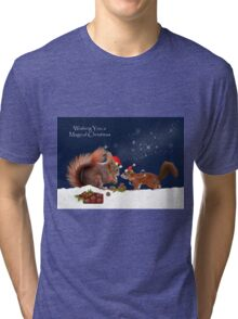 Magical Christmas Tri-blend T-Shirt