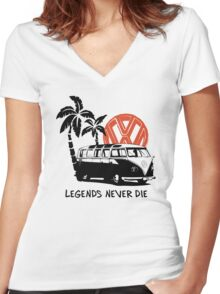 Legends Never Die - Retro BULLY T-Shirt Women's Fitted V-Neck T-Shirt