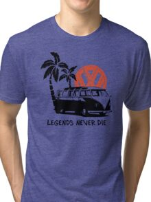 Legends Never Die - Retro BULLY T-Shirt Tri-blend T-Shirt