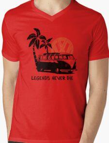 Legends Never Die - Retro BULLY T-Shirt Mens V-Neck T-Shirt