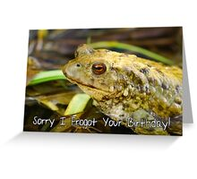 Sorry I Forgot Your Birthday Belated Birthday Card Greeting Card