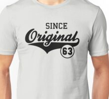Original SINCE 1963 Birthday Anniversary T-Shirt Black Unisex T-Shirt