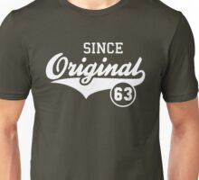 Original SINCE 1963 Birthday Anniversary T-Shirt White Unisex T-Shirt