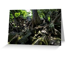 Ruins of Beng Mealea temple, Cambodia Greeting Card