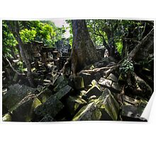Ruins of Beng Mealea temple, Cambodia Poster