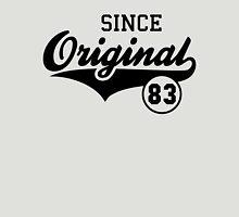 Original SINCE 1983 Birthday Anniversary T-Shirt Black Unisex T-Shirt