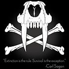 Saber-Toothed Cat and Crossbones Poster - Black by DwightBynumJr