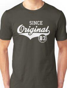 Original SINCE 1983 Birthday Anniversary T-Shirt White Unisex T-Shirt