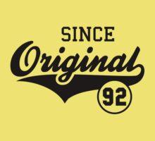 Original SINCE 1992 Birthday Anniversary T-Shirt Black T-Shirt