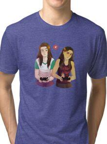 Game Buddies, Red Warrior Tri-blend T-Shirt