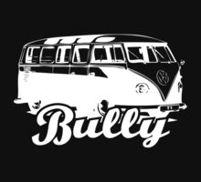Retro BULLY T-Shirt White by MILK-Lover