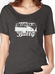 Retro BULLY T-Shirt Black and White Women's Relaxed Fit T-Shirt