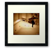 Artist in a spin Framed Print