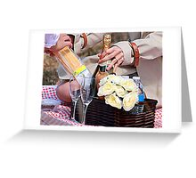 Engagement Picnic Greeting Card