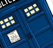 Tardis Police Box Sticker