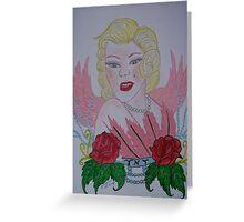 Just an Angel,Marilyn Monroe Greeting Card