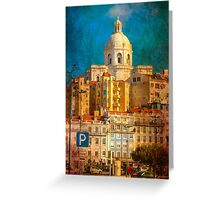 old lisbon. Greeting Card