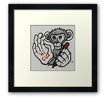 Monkey Saying 'Hi Cuz' Framed Print