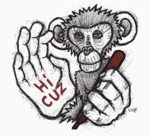 Monkey Saying 'Hi Cuz' T-Shirt