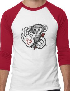 Monkey Saying 'Hi Cuz' Men's Baseball ¾ T-Shirt