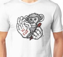 Monkey Saying 'Hi Cuz' Unisex T-Shirt