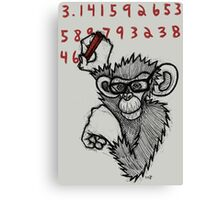 Monkey Doing Pi Canvas Print