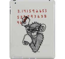Monkey Doing Pi iPad Case/Skin