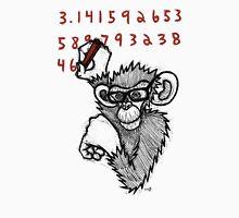 Monkey Doing Pi Unisex T-Shirt