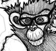 Monkey Doing Pi Sticker