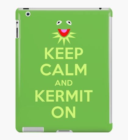 Keep Calm Kermit iPad Case/Skin