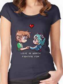Love Worth Fighting For Women's Fitted Scoop T-Shirt