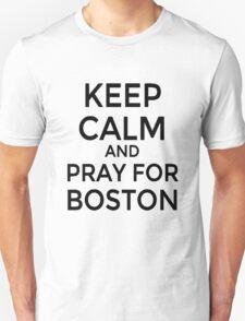 #PRAYFORBOSTON-Keep Calm [Black] T-Shirt
