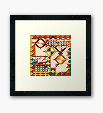 Playing puzzle Framed Print
