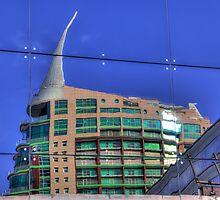Reflection Of San Rafael Building Lisbon by manateevoyager
