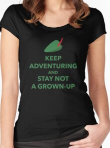 Keep Adventuring and Stay Not a Grown Up Women's Fitted Scoop T-Shirt
