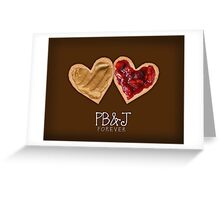 Peanut Butter and Jelly Greeting Card