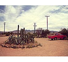 Mexican Desert Truck Photographic Print