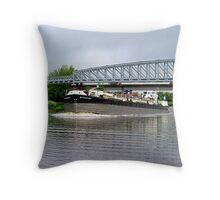 Battlestone passing under low bridge - River Trent......! Throw Pillow