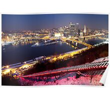 Pittsburgh at Night Poster