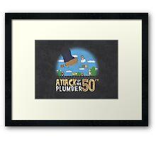 50 Foot Plumber Framed Print