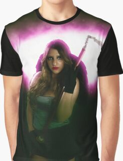 Grim reaper female DEATH carrying scythe Graphic T-Shirt