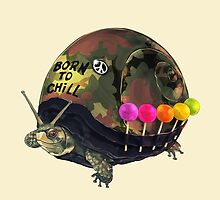 """Born to Chill"" Full Metal Snail Turtle by bkkbros"