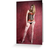 Black and red corset Greeting Card