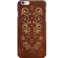 Embroidery Curly Graphic iPhone Case/Skin