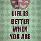 Life is better when you are laughing quote by thejoyker1986