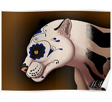 Day of the Dead Clouded Leopard Poster