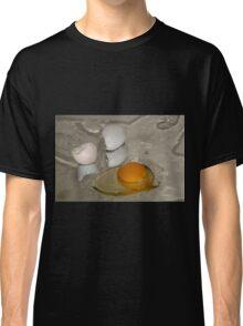 Raw egg and broken egg shell Classic T-Shirt